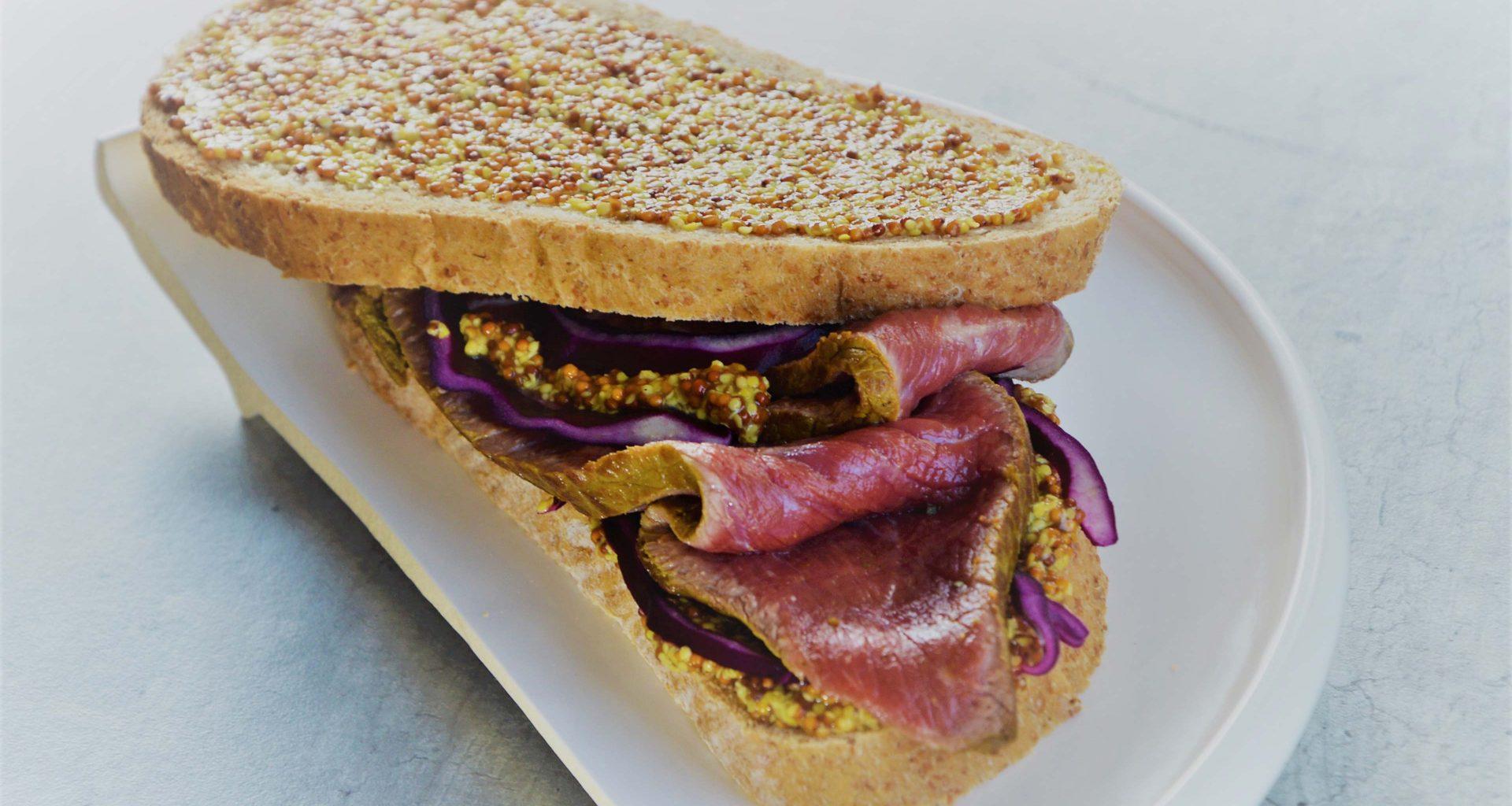 Sandwich Boeuf de Chalosse et moutarde à l'ancienne
